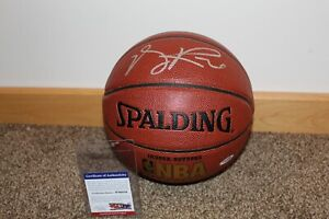 DERRICK ROSE signed basketball NBA knicks bulls with PSA/DNA COA