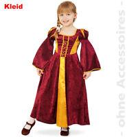Burgfrau Kostüm Kleid Kinder Burgfräulein Edeldame Maid Kinderkostüm