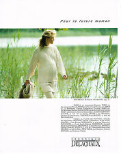 PUBLICITE ADVERTISING 094  1990  VERONIQUE DELACHAUX vetements maternité