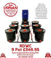 Urban RDWC 20L Hydroponics 9 Pot 3 Lane System Flexi Tank Not Alien IWS RUSH DWC