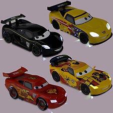 NUOVO: 4x XXL light-up CARS MCQUEEN Jeff Corvette Lewis Hamilton & MIGUEL CAMINO
