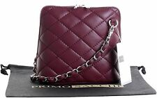Ladies Womens Small Italian Leather Quilted Shoulder Bag Crossbody Bag Handbag