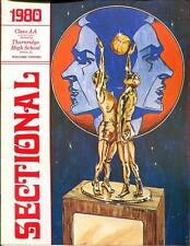 High School Basketball Program Illinois 1980 Tournament Boys AA