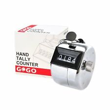GOGO Sport 4 Digit Tally Counter Metal Hand Counter, Solid Metal Counter Clicker