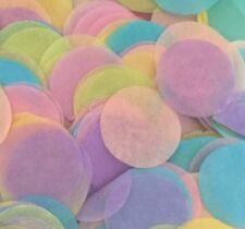 TISSUE PAPER WEDDING THROW CONFETTI Round Pastel Rainbow x 2000 pcs- 2.5cm Size