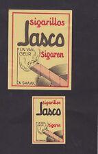 Ancienne  étiquette   Allumettes Belgique BN24376 Cigarillos Jasco
