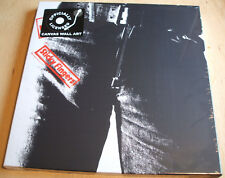 rolling stones sticky fingers stretch canvas wall art 40cm x 40cm official  new