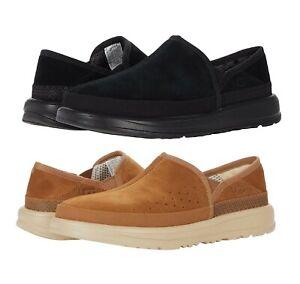 NEW 100% UGG Brand  Mens Kick It Slip-On Slipper Shoes Sandals Black Chestnut