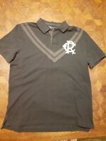 NEW-Ralph Lauren Polo Black Short Sleeve Rugby Polo Shirt Size-Large *Orig $125*