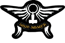 Amon Amarth-Patch ricamate-Wings Cut