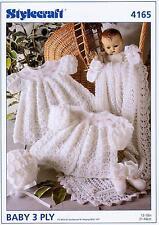 Stylecraft 4165 Knitting Pattern Baby Set in Stylecraft Wondersoft 3 Ply