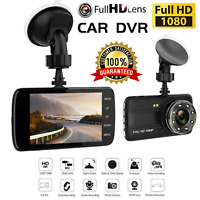 "2 Channel Dash Cam 1080P 4"" HD Car Dual Camera Front and Rear Vehicle Recorder"