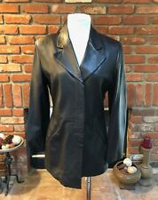 VTG 90s GIORGIO ARMANI Black Label Soft LEATHER Layering Blazer Jacket 42 $1995