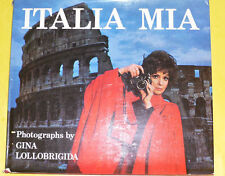 Italia Mia 1974 Gina Lolobrigida Photographs Great Illustrations Large Book See!