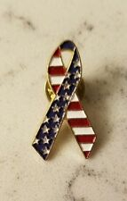 United States of America Ribbon Lapel Pin USA Patriotic Flag Pinback Button Hat