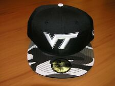 Virginia Tech Hokies Black Camo 59Fifty Fitted New Era Cap Hat 7 3 8 ( a524b4cae923