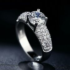 1.75TCW D/VVS1 Diamond Wedding Engagement Ring 14K White Gold Over For Women