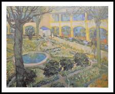 Van Gogh Gogh Der Garten des Spitals in Arles Poster Kunstdruck im Alu Rahmen