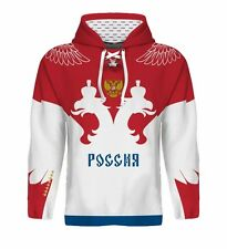 2018 Russia Hockey Hoodie NHL Ovechkin Tarasenko Malkin Panarin Kuznetsov Jersey
