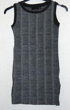 ZARA Womens Midi Pencil Dress Stretch Grey Knee Length Office Wear Size S 8-10