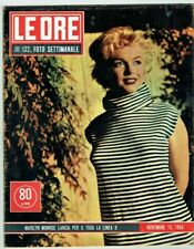 MARILYN MONROE Cover Magazine 1955 Italy Vintage Weekly Issue Rare Sexy Le Ore 1