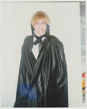 Vintage 70s PHOTO Blond Boy In Dracula Costume