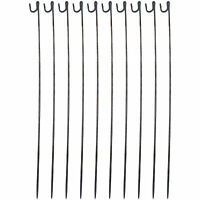 10PK METAL FENCING PINS STEEL BARRIER MESH FENCE ROAD EVENT STAKES 1250mm x 10mm
