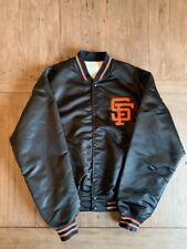 San Francisco Giants - Vintage Black Satin Jacket - OG Starter - XL
