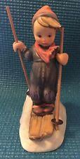 Vintage Goebel M. J. Hummel Skier Figurine Wooden Poles 1960-1972 #59 W. Germany