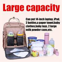 2020 Large Mummy Rucksack Nappy Diaper Bag Baby Travel Changing Nursing Backpack