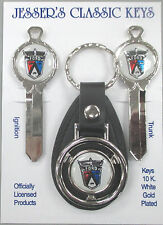 Ford CROWN VICTORIA Crest Lion Deluxe Classic White Gold Key Set 1968 1969 1970