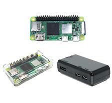 Raspberry Pi Zero 2 W with Pi Zero Black/Clear Cases, Raspberry Pi Zero 2W