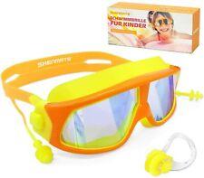 Schwimmbrillen für Kinder, Verstellbar Taucherbrille Anti Nebel, UV-Schutz,