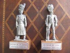 Etain d'Art : voltigeur de ligne et sapeur de la garde, infanterie 1804 - 1815