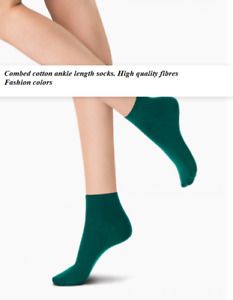 3 Pack Oroblu All Colors Cotton ankle length Opaque rib structure made of cotton
