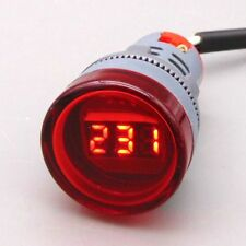 22MM Digital Display Voltmeter Lights AC 60V-500V Indicator LED Voltage Monitor
