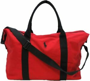 NEW MENS RALPH LAUREN Polo Red/Black Holdall/Travel/Gym/Weekend/Duffle Bag