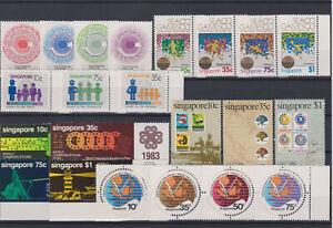 Singapore yearset 1983 sc. 412-433  VF  MNH