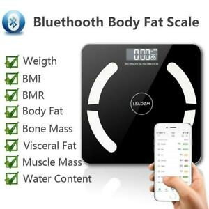 Electronic Bathroom Scales Toughened Glass Measure Body Weight Fat Scale 180KG
