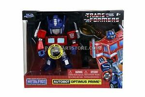 """Transformers G1 Optimus Prime Light-Up 4"""" Die-cast Metal Collectible Figure,..."""