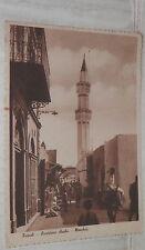 TRIPOLI QUARTIERE ARABO MOSCHEA 1937 LIBIA Vecchia foto cartolina fotografia DI