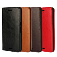 Genuine Leather Wallet Card Holder Flip Case Cover For Huawei Nexus 6P