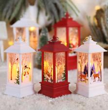 Christmas Decoration LED Lighting Box Ornament Lantern Santa New Year