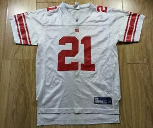 Vintage Tiki Barber NFL New York Giants Reebok Jersey #21 YXL Would Fit Small