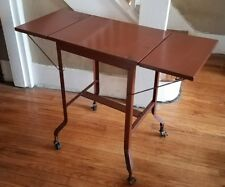 Vtg Industrial Steampunk Typewriter Computer Laptop Stand Desk Table Metal Brown