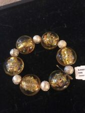"Toned Bracelet $29 (Dc) Premier Designs ""Sunset"" 6.5"" Silver/Yellow"