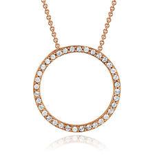 "Rose Gold Tone Swarovski Elements Eternity Necklace, 18"""