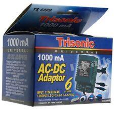 Universal AC/DC Power Adapter 1.5-3-4.5-6-7.5-9-12V DC 1000mA 110/220V AC Volt