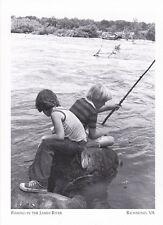 "*Postcard-""2 Boys Fishing In The James River""  *Richmond, VA (#210)"