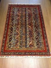 "Handmade Multi-colored Oriental Shawl Rug 3' 2"" x 4' 10"""
